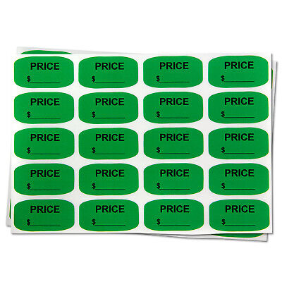 Blank Price Stickers Garage Sale Store Clearance Retail Labels 0.75x1.381pk