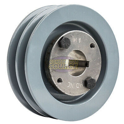 Cast Iron 4.5 2 Groove Dual Belt A Section 4l Pulley With 1 Sheave Bushing