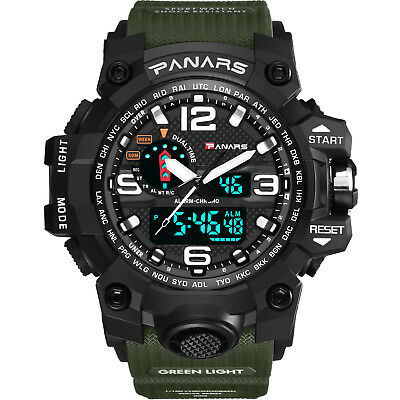 Alarm Watch Stopwatch (Men's LED Tactical Sport Digital Alarm Waterproof Stopwatch Military Wrist)