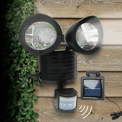 22 LED Dual Security Detector Solar Spot Light Motion Sensor Outdoor Floodlight ()