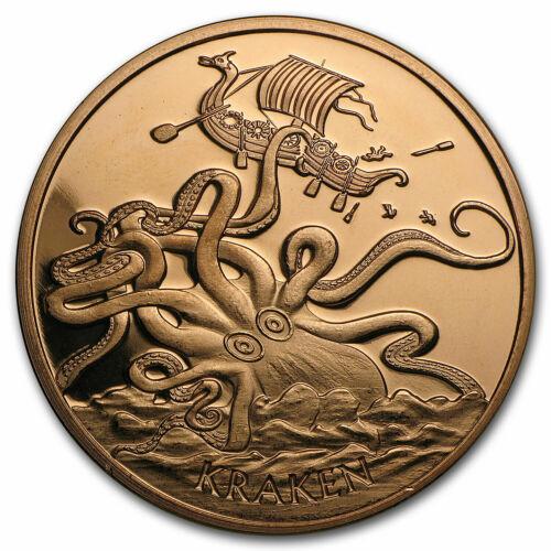 1 oz Copper Round - Kraken