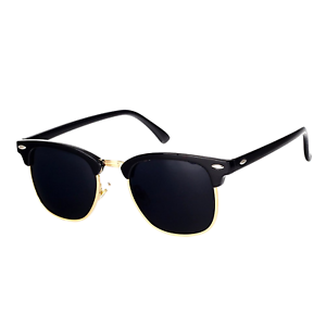 1f801ac7bd Pro ACME Classic Semi Rimless Polarized Clubmaster Sunglasses With Metal  Rivets