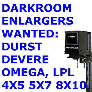 Large Format Enlarger 4X5, 5X7, 8X10 DURST DEVERE OMEGA Darkroom