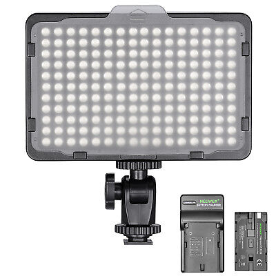 Neewer Dimmable 176 LED Video Light on Camera LED Panel with Battery and Charger (Camera Video Light)