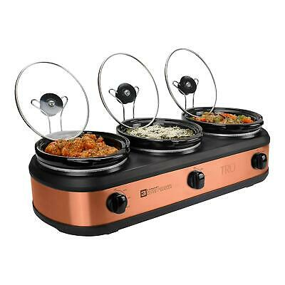 Buffet Server Set (TRU Triple Slow Cooker Crock Pot Buffet Server Set - 3 x 2.5 Quart Oval)
