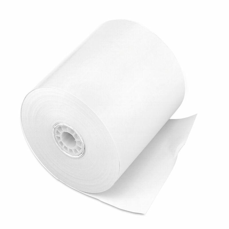 "Iconex Impact Bond Paper Rolls, 3"" x 150 ft, White, 50/Carton 90740097"