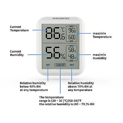 Inkbird ITH-20 Temperature Humidity Data Logger Recorder record show time temp comprar usado  Enviando para Brazil