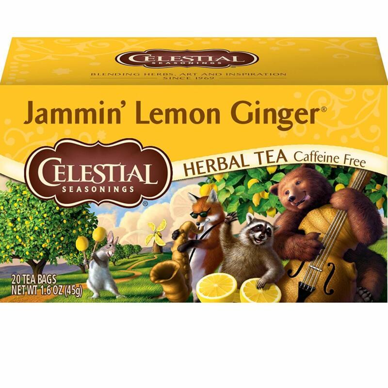 Celestial Seasonings Herbal Tea, Jammin' Lemon Ginger, 20 Co