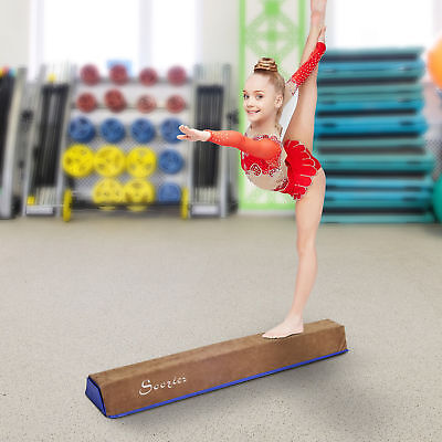ead58c21dbbe 4' Sectional Floor Balance Beam Gymnastic Training Soft Suede Low Height
