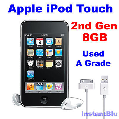 iPod Touch 8GB 2nd Generation Apple Black Used A Grade MP3 Music Player Gift