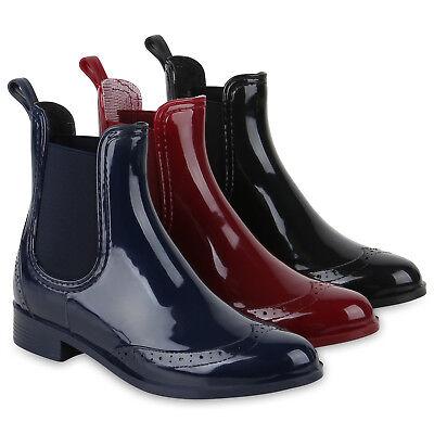 Damen Stiefeletten Gummistiefel Wasserdichte Boots Regenschuhe 824374 Schuhe