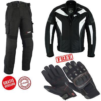 Winter Motorrad Kombi Herren Jacke und Hose Biker Wasserdicht Textil Kombi Neu  Jacke Und Hose