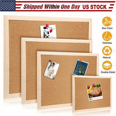 Cork Notice Message Board Wood Frame Office Memo School Home Pinboard US SHIP