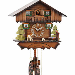 Original German Cuckoo Clock 1-day-movement Chalet-Style 24cm by Hekas