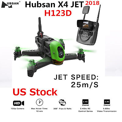 2018 Hubsan H123D X4 Jet Storm Racing Brushless FPV  720P RC Drone Quadcopter US