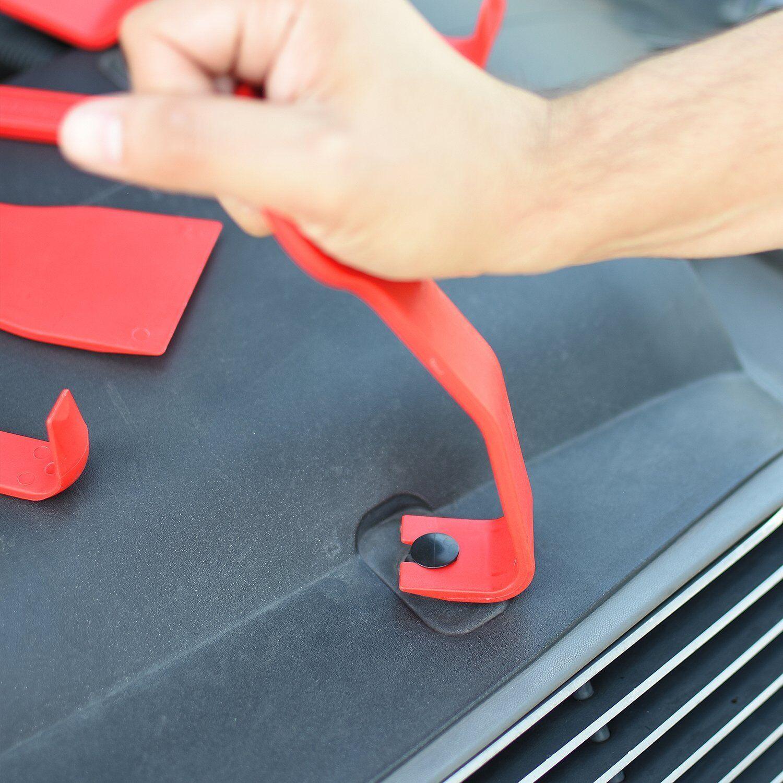 11-PC. PROFESSIONAL Auto Trim & Fastener Remover Tools Dash Door Interior Panels