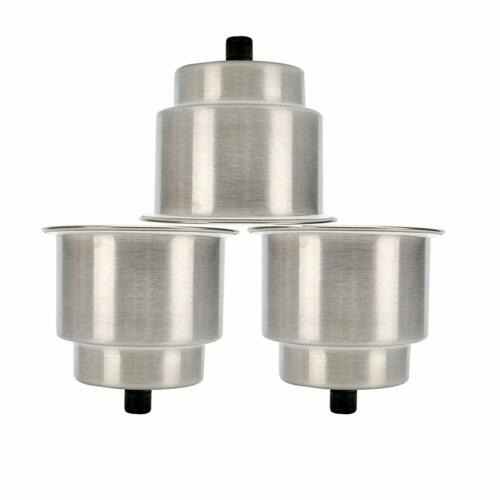 3 PCS Stainless Steel Cup Drink Holder for Boat Car RV Camper Table, Counter Top