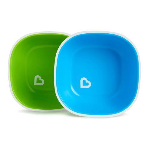 Munchkin Splash Toddler Baby Non Skid Snack Cereal Bowls - Green/Blue - 2pk