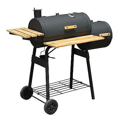 Outsunny 48''BBQ Grill Charcoal Barbecue Patio Backyard Home Meat Cooker Smoker