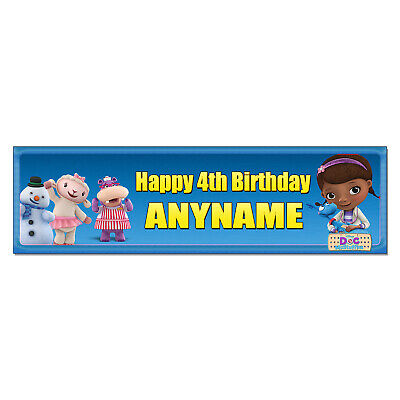 Personalized Doc Mcstuffins Birthday Banner (Personalized & Custom Printed Doc McStuffins Birthday Party Banner Poster)
