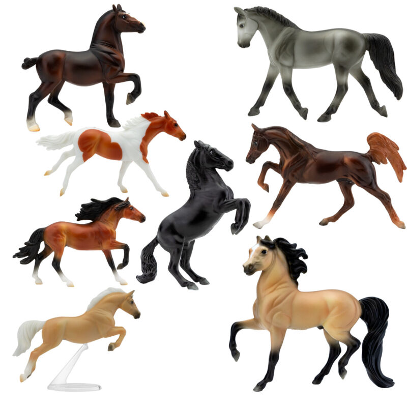 Breyer Deluxe 8 Horse Stablemates Wild at Heart Collection Toy Set 1:32 Scale