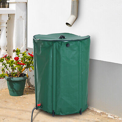 Outunny 60 Gallon Rain Barrel Collapsible Portable Water Collection Tank Storage