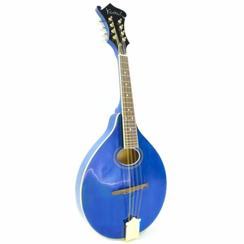Mandolin Koda FMD1, A Style Blue Laminated Spruce Top Ply Wood B&S, Oval Hole