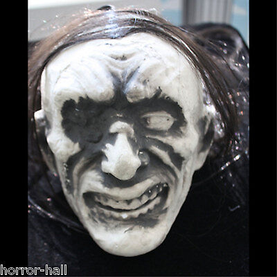 Styrofoam Head Halloween Decorations (LifeSize Sculpted Styro Face ZOMBIE SEVERED HUMAN HEAD Ghoul DIY Prop)