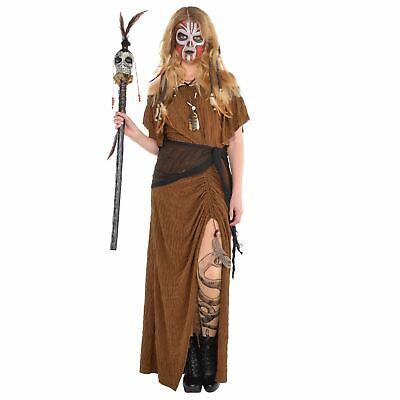 Voodoo Princess Costume (Womens Witch Doctor Dress Halloween Costume Voodoo Fancy Dress Standard)