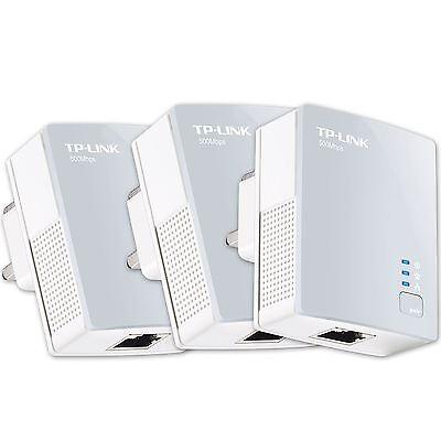 TP Link TL PA411 AV500 Nano Powerline Ethernet Gaming adapter Home Plug X 3 UK
