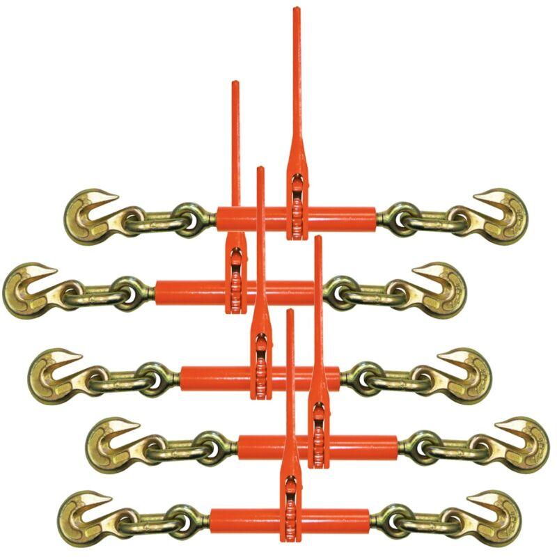 VULCAN Ratchet Binder - 2 Grab Hooks - 5 Pack - 9200 lbs SWL