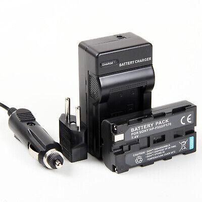Cargador + Batería NP-F550 3000mAh para Sony HDR-FX1E, FX7, FX7E, HDV-FX1, Z1