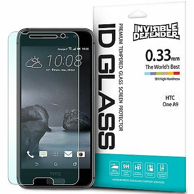 HTC One A9 Tempered Magnifying glass Screen Protector | Ringke Invisible Defender 0.33 mm