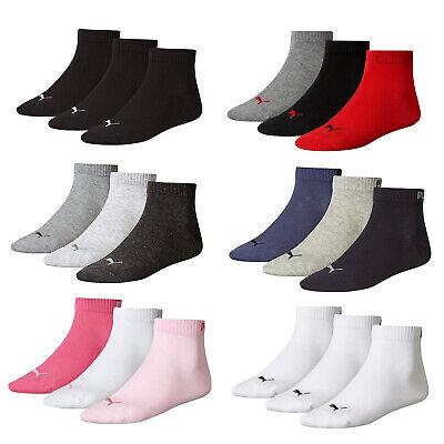 Puma Unisex Quarter Training Sports Socks (3 Pairs)