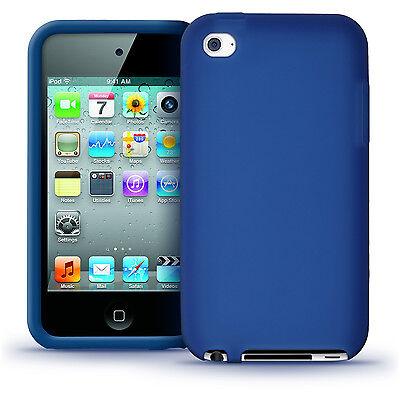 Blau Silikon Tasche Skin für Apple iPod Touch 4G Generation 8/32/64gb Hülle Case Apple Ipod Touch Blau 64 Gb