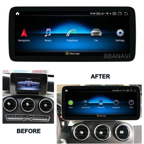 Android10 12.3Screen 1920HD Car Multimedia GPS Navigation Benz New C W205 X/C253