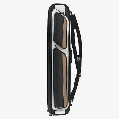 Lucasi LC1048W 4x8 Black / White / Tan Soft Pool Cue Case w/ FREE (Lucasi Cue Case)