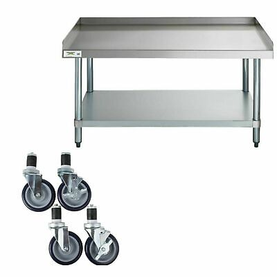30 X 48 Heavy Equipment Stand W Casters Stainless Steel Prep Table Commercial