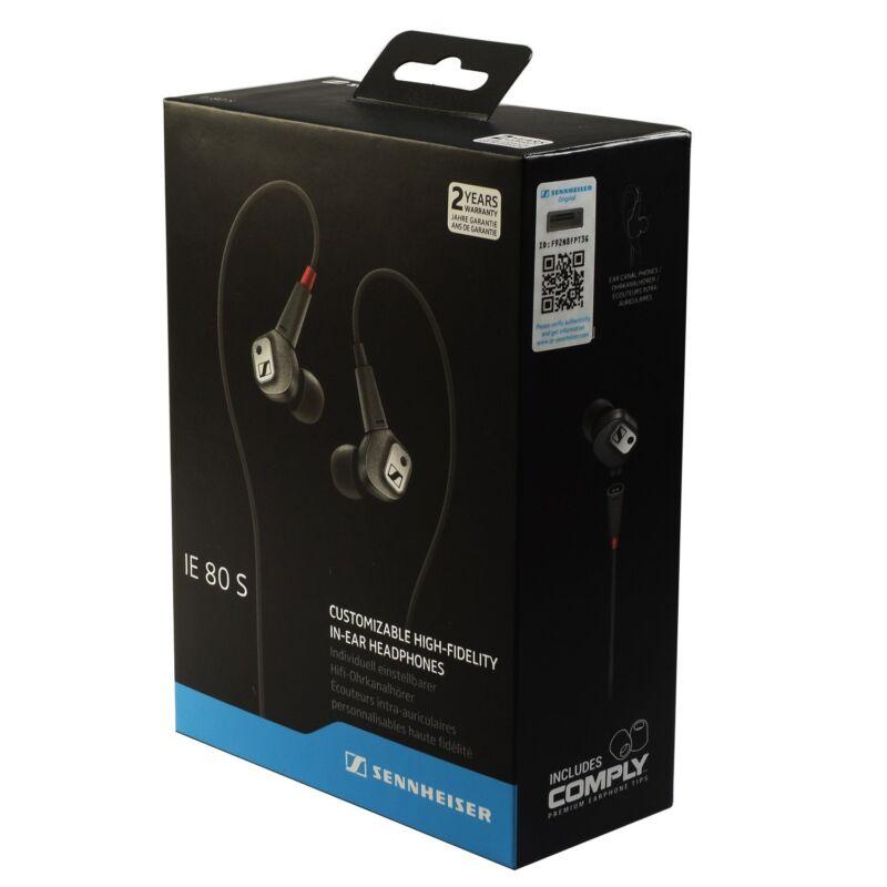 Sennheiser IE 80 S Earbud Headphones Black IE 80 S