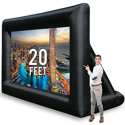 Pro 20FT Inflatable Projector Screen Movie Theater Screen Set With CE/UL Blower