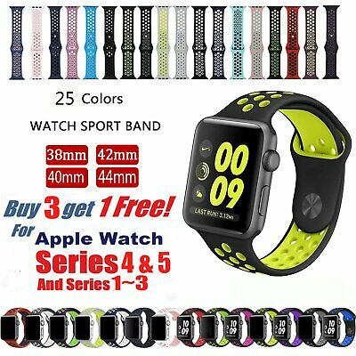 Replacement Silicone Sport Band Strap For Apple Watch 42/44/40mm Series5 4 3 2