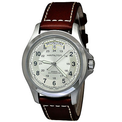 Hamilton H64455523 Men's Khaki King Brown Leather Strap Automatic Watch
