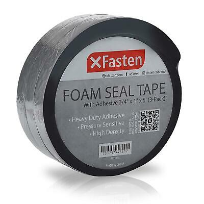 XFasten Foam Seal Tape with Adhesive 3/4