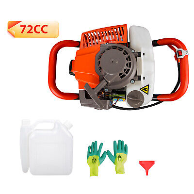 72cc Earth Auger Powerhead 1 Or 2 Men Gas Powered Post Hole Digger Machine