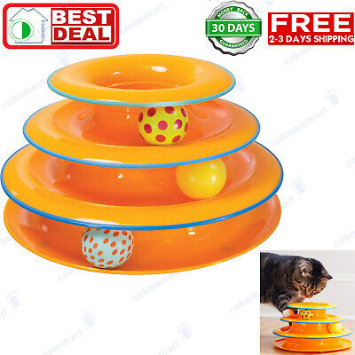 Games And Toys (Petstages Tower of Tracks Ball and Track Interactive Toy for Cats, Fun Cat)