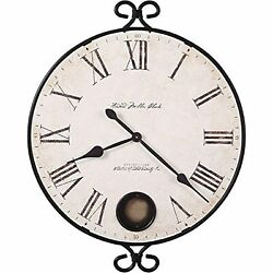 Howard Miller Magdalen Oversized Wall Clock 625-310  Wrought-Iron with Quartz