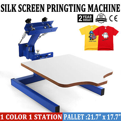 1 Color Screen Printing Press Kit Machine 1 Station Silk Screening Pressing DIY](Screen Print Kit)
