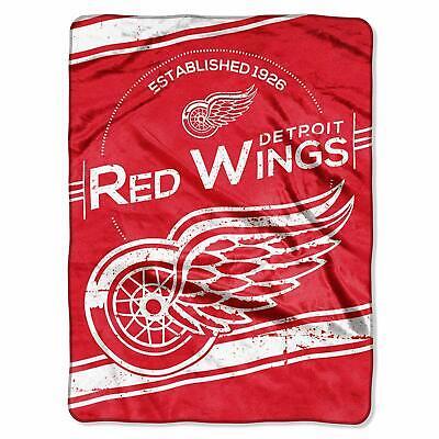 Officially Licensed NHL Detroit Red Wings Plush Raschel Throw Blanket, 60