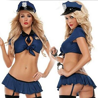 Sexy Police Costume Halloween Costume Outfit Cop Cosplay For Adult and Woman  (Cop Outfit For Halloween)