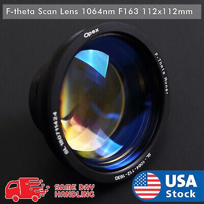 New 1064nm Laser F-theta Scan Lens F163 112x112mm